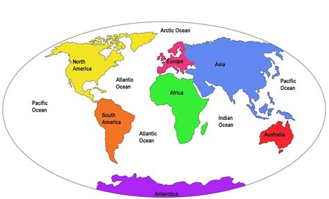 world map with continents and oceans clipart free clipart