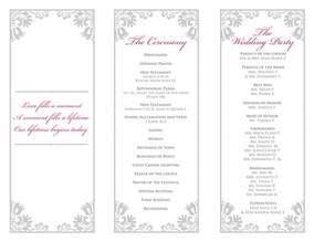 Tri Fold Wedding Program Template by Tri Fold Wedding Program Templates Images