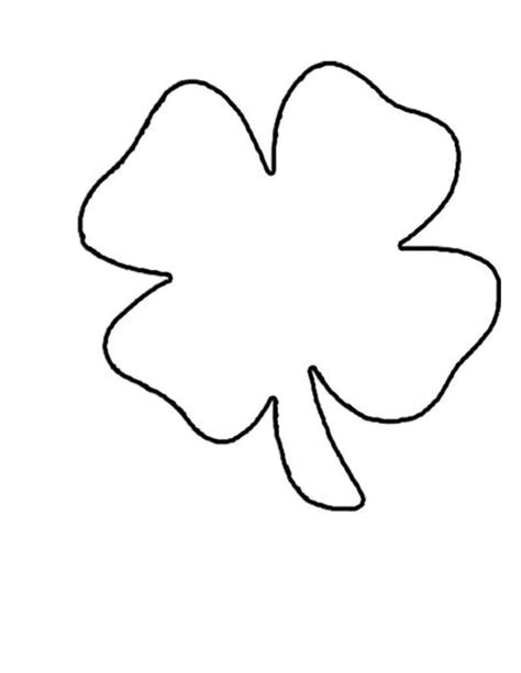 clover template shamrock outline cliparts co