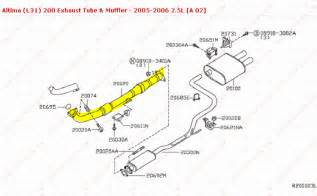 2001 Nissan Sentra Exhaust System Diagram 2013 Nissan Altima Exhaust System Autos Post