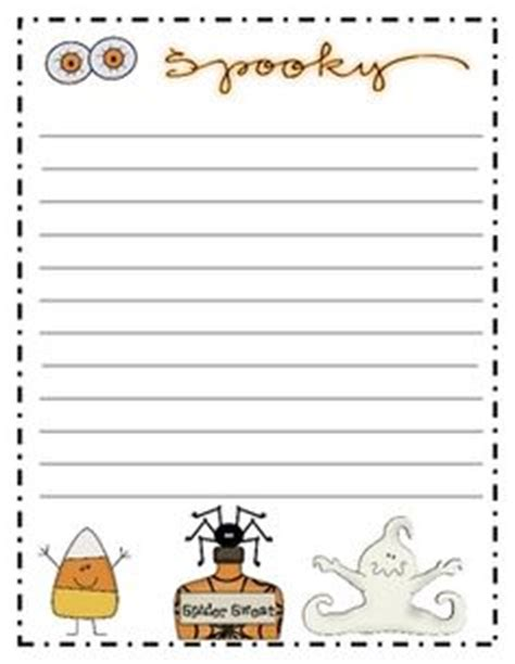 spooky writing paper acrostic poem students can create a