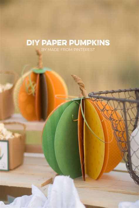 How To Make A Pumpkin Out Of Paper - paper pumpkins autumn market day three tgif this