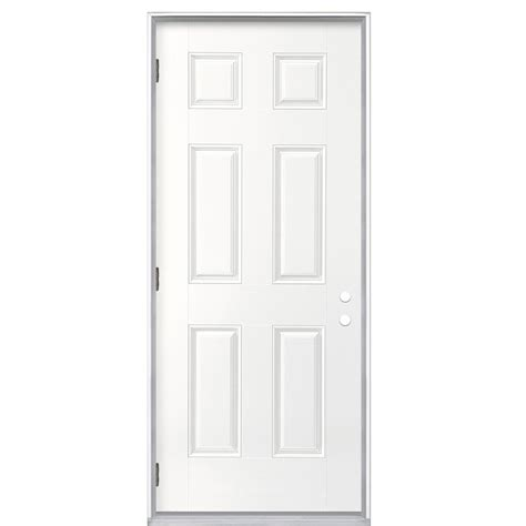 32 Inch Fiberglass Exterior Door Shop Reliabilt None Prehung Outswing Fiberglass Entry Door Common 32 In X 80 In Actual 33 5