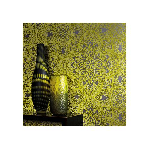 black wallpaper john lewis black edition byzantine flock paste the wall wallpaper at