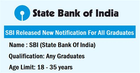 salary package for freshers in tech mahindra sbi state bank of india notification released age