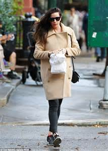 Liv Tylers Be D Handbag by Liv Covers Bump In A Coat As She Steps Out