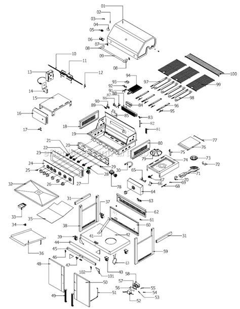 Backyard Grill Parts List Nexgrill 720 0582 Parts List And Diagram
