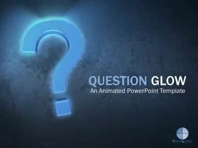 question glow slide for powerpoint presentermedia