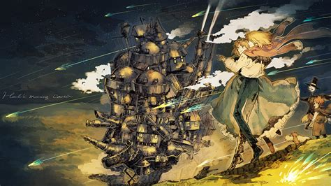 howls moving castle howl studio wallpaper anime studio ghibli howl s moving castle