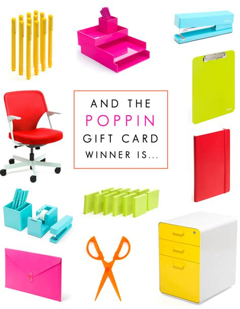 Poppin Gift Card - bubby and bean living creatively did you win the poppin giveaway