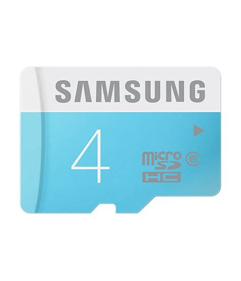 Memory Card 4gb Samsung samsung 4gb microsd class 6 memory cards at low prices snapdeal india