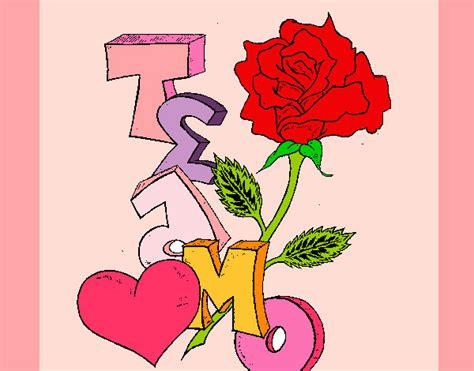 imagenes te amo flor dibujo de te amo ii pintado por lupii en dibujos net el