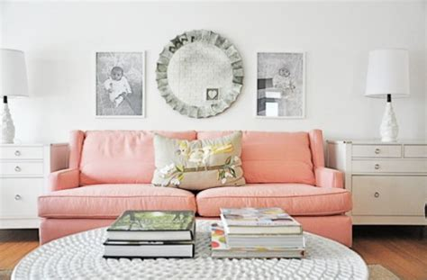 Salmon Colored Curtains Designs Pink Sofa Contemporary Living Room I Suwannee