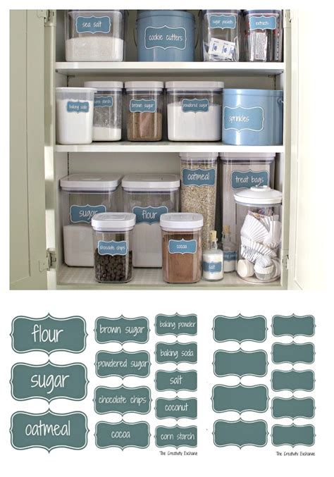baking cabinet organization organize a baking cabinet with free printable pantry labels
