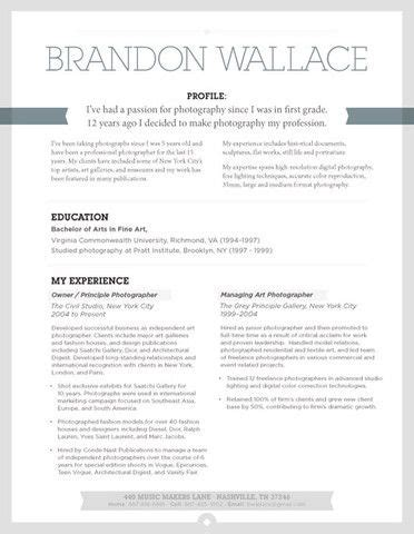 27 best creative resume exles images on