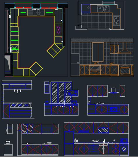 exit layout view autocad kitchen cad blocks elevations besto blog
