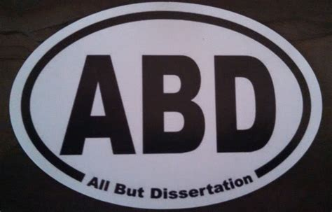 all but dissertation abd all but dissertation oval car magnet