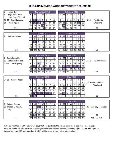 Printable Calendar 2018 19