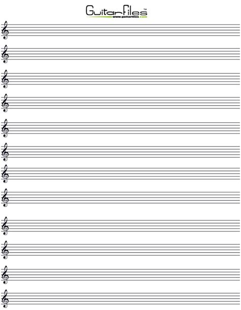printable cornell note paper with musical staff