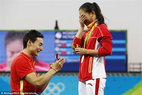 Chinese diver He Zi wins silver medal and gets surprise