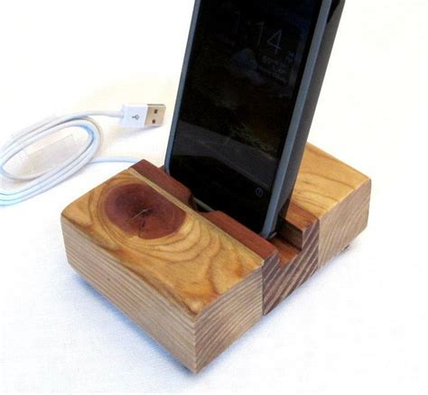 rustic charging station rustic wood iphone dock charging station iphone charger