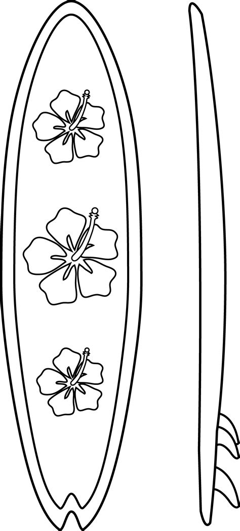Surfboard Coloring Pages surfboards line free clip