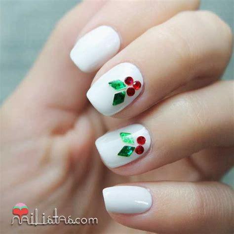 imagenes de uñas pintadas para navidad u 241 as decoradas de navidad nail art con hojas de acebo