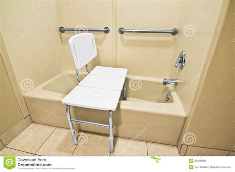 handicap bathtub seats handicap bathing chair stock photo image of plastic