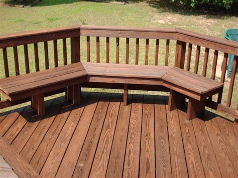 decks with benches deck bench for the home pinterest