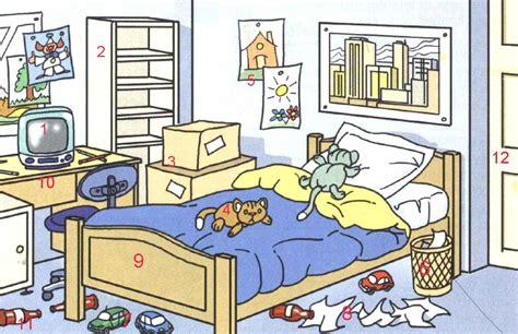 chambre rang馥 d 233 crire une chambre situer les objets unit