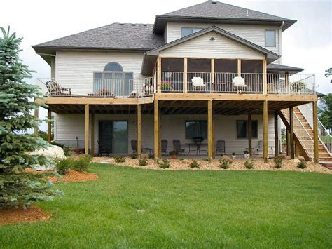 one level house plans with walkout basement porch wrap walkout basement deck new single family homes and