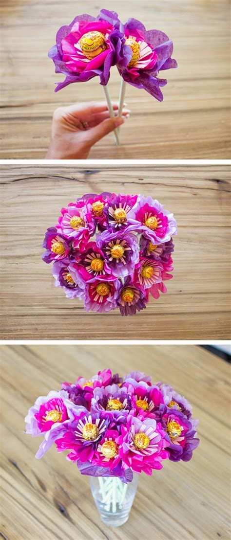 How To Make A Bouquet Of Flowers Out Of Paper - diy valentines day ideas a bouquet of flowers made out