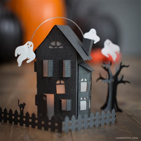 How To Make A Paper Haunted House - paper craft haunted house by lia griffith project