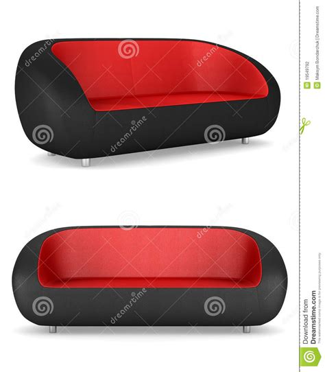 red and black leather couch modern black and red leather couch isolated stock