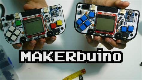 game console mod tdm makerbuino a diy game console youtube