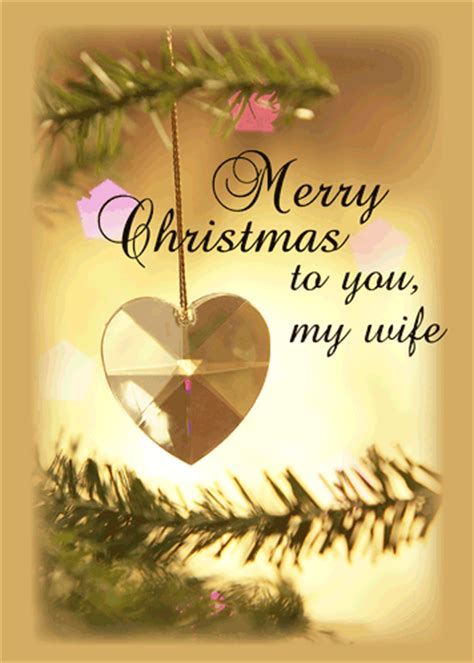 christmas love wife  gold heart  love ecards greeting cards