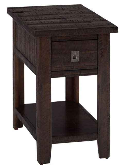 Ideas Chairside End Tables Design Leick 10025 Rustic Slate Chairside L End Table Atg