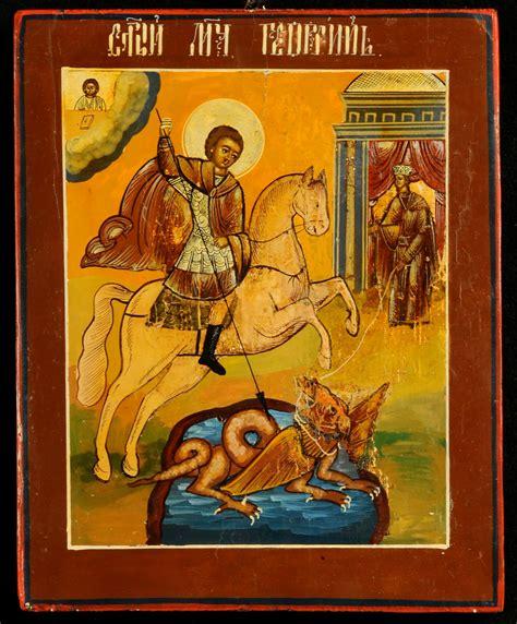 casa d aste san giorgio icona raffigurante san giorgio xix secolo antiquariato