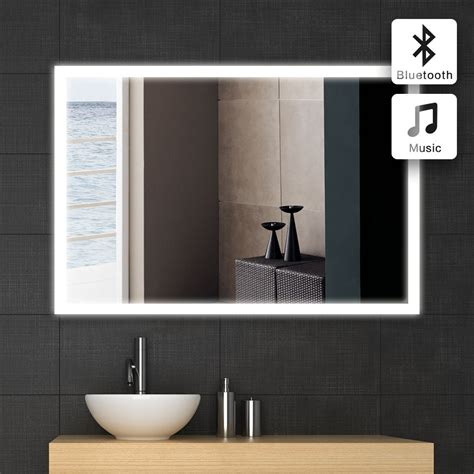 illuminated bathroom wall mirror led illuminated modern rectangular bathroom mirror