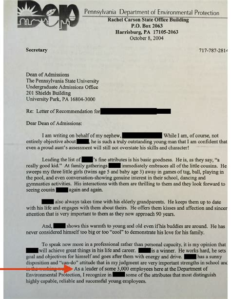 Recommendation Letter Penn State Pa Cabinet Official Mcginty Used State Letterhead While Recommending Nephew For Penn State