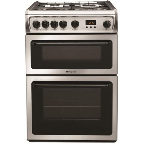 Oven Gas Stenless Uk 60 hotpoint hag60x 60cm oven gas cooker stainless