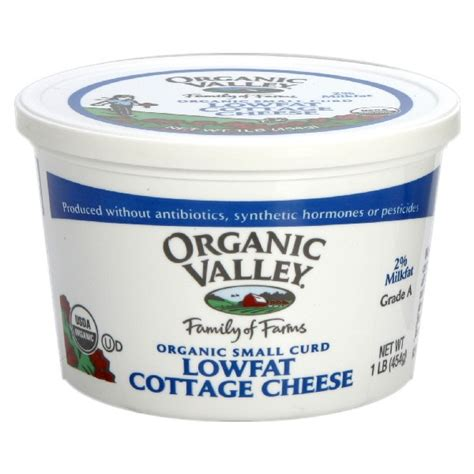 cottage cheese organic organic valley cottage cheese small curd 2 low