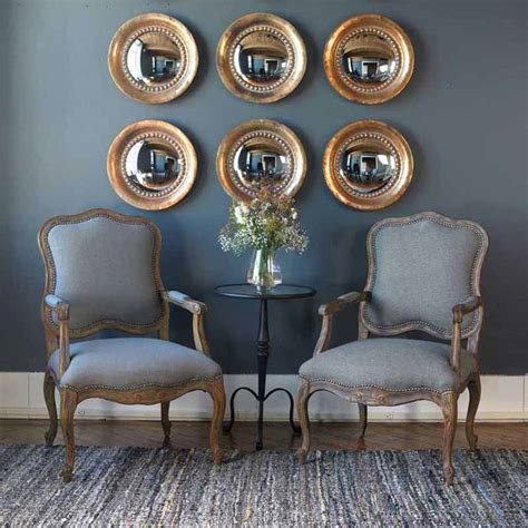 uttermost home decor tropea round thick framed mirror pair oxidized uttermost 12847