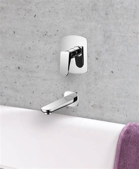 wall mounted bath filler and shower drift wall mounted bath filler manual valve and spout aqualla brassware
