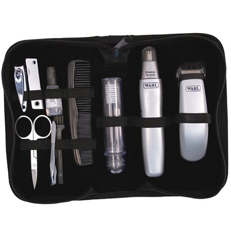grooming kit wahl travel grooming kit trimmer nose ear hair nail clipper pouch 9962 1417 sustuu
