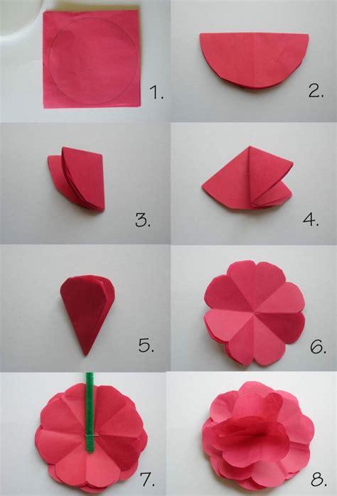 Blume Falten Kindergarten by Papier Falten F 252 R Papierblumen Kinder Spielen Basteln