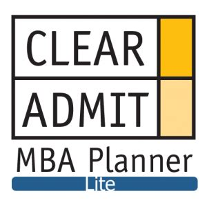 Mba Clear Admit by Clear Admit Mba Planner Iphone App Now Available In Lite