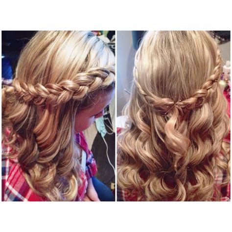 brady braided formal updo half up half down with inside out french braid prom hair
