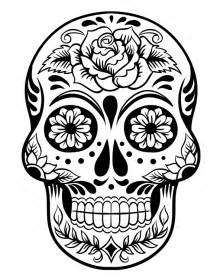 Coloring Pages Of Sugar Skull Candy 13389  sketch template