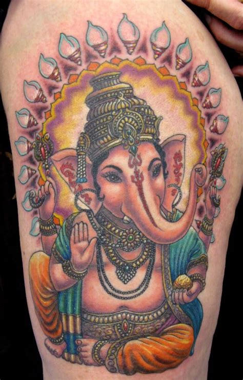 tattoo ganesha full back colorful indian lord ganesha tattoo on girl full back